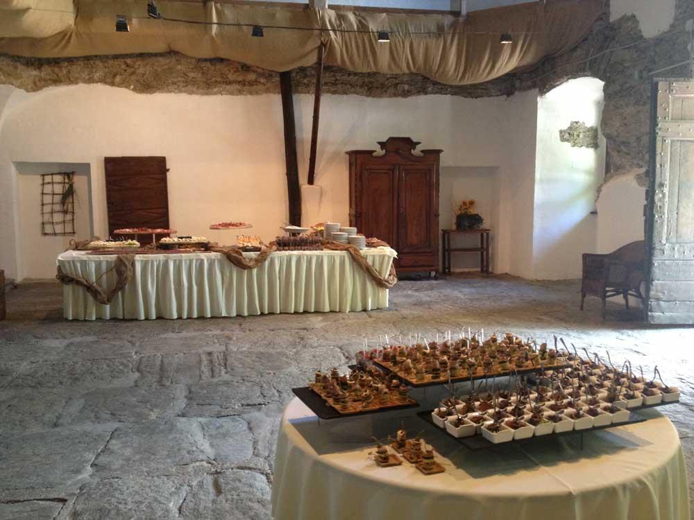dettaglio buffet monoporzioni Bon Ton di Pietrini presso Il Forte La Brunetta- catering per matrimoni e catering per eventi aziendali Bon Ton di Pietrini, Torino