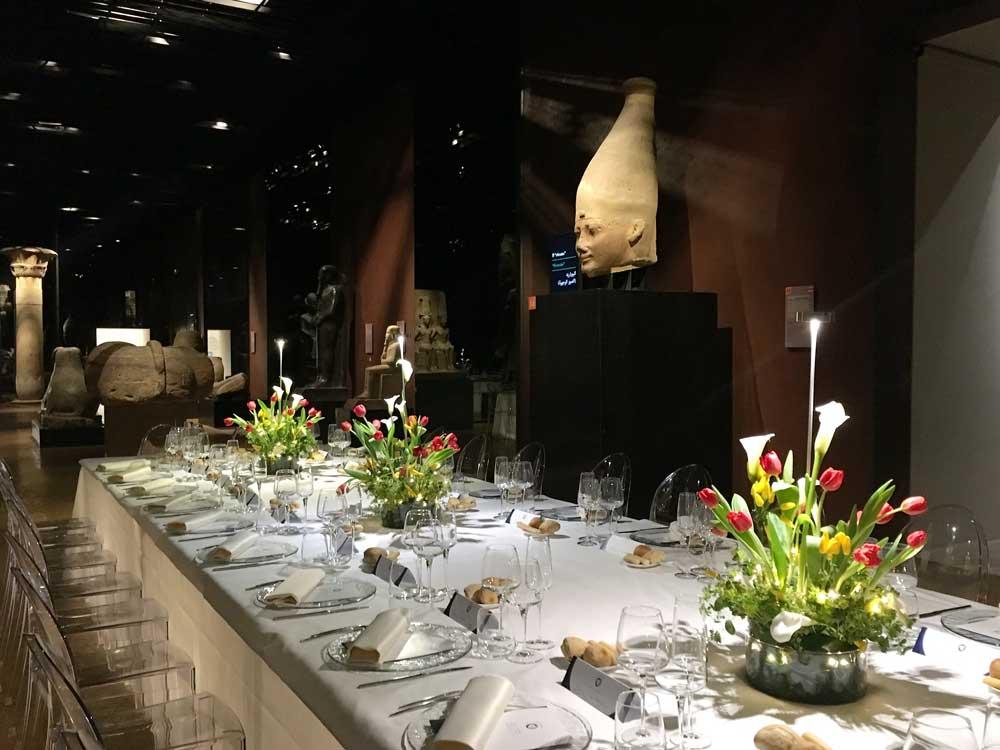 Catering al Museo Egizio di Torino: cena di Gala  della FIGC