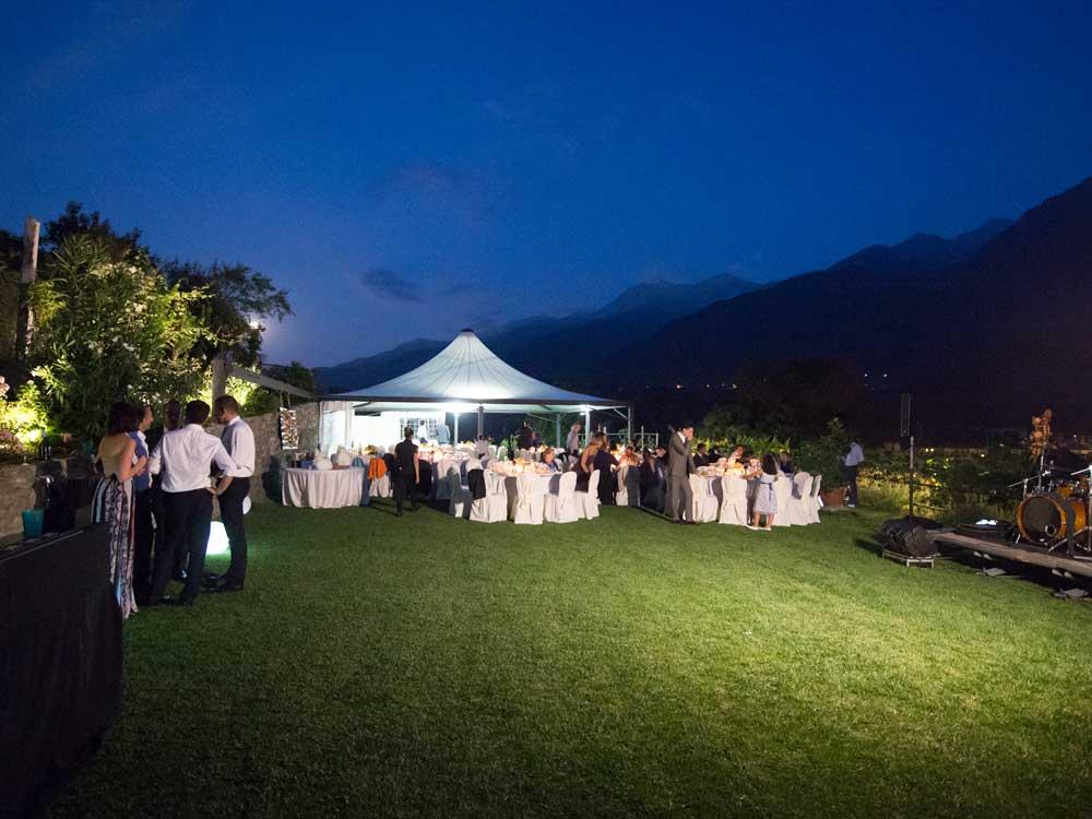 location per matrimoni catering Bon Ton - cena esterno con tensostruttura, Villa Vigna Brunetta catering per matrimoni Bon Ton di Pietrini