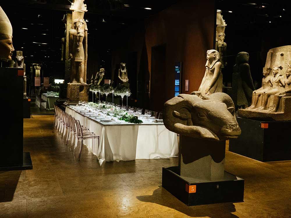 Catering al Museo Egizio di Torino: aperitivo aziendale