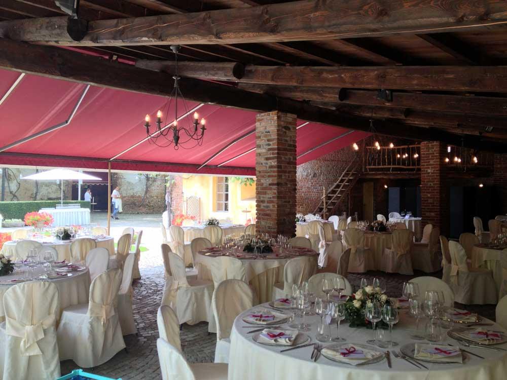 dettaglio mise en place sala - Bon Ton di Pietrini presso il Castello di Nichelino - catering per matrimoni e catering per eventi aziendali Bon Ton di Pietrini, Torino