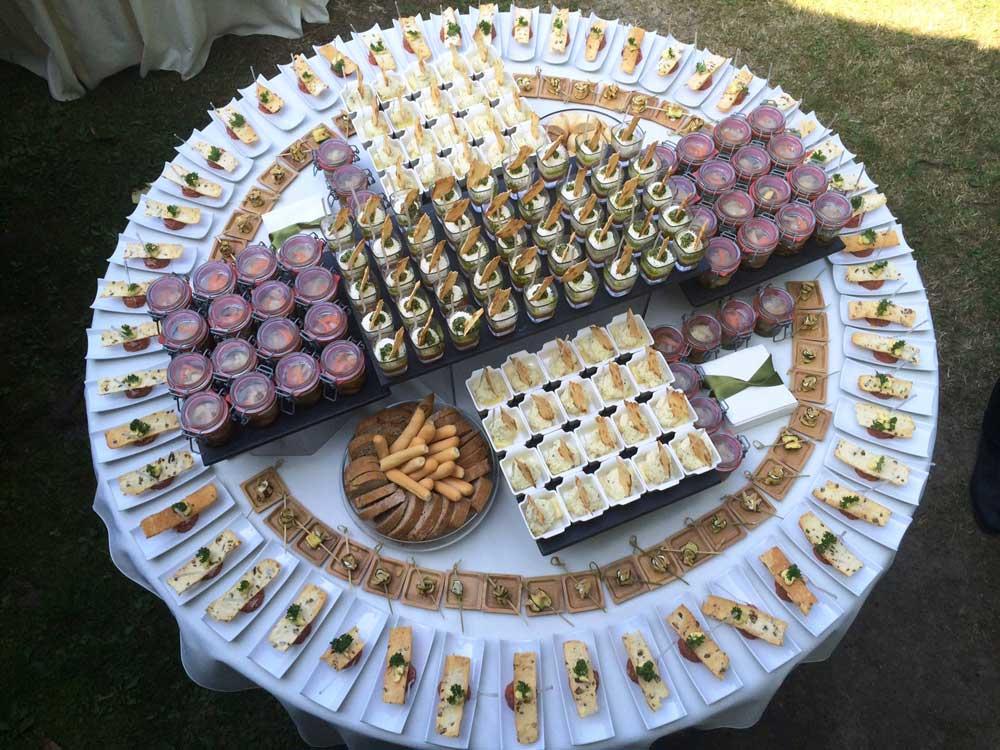 Buffet monoporzioni-Catering Bon Ton di Pietrini