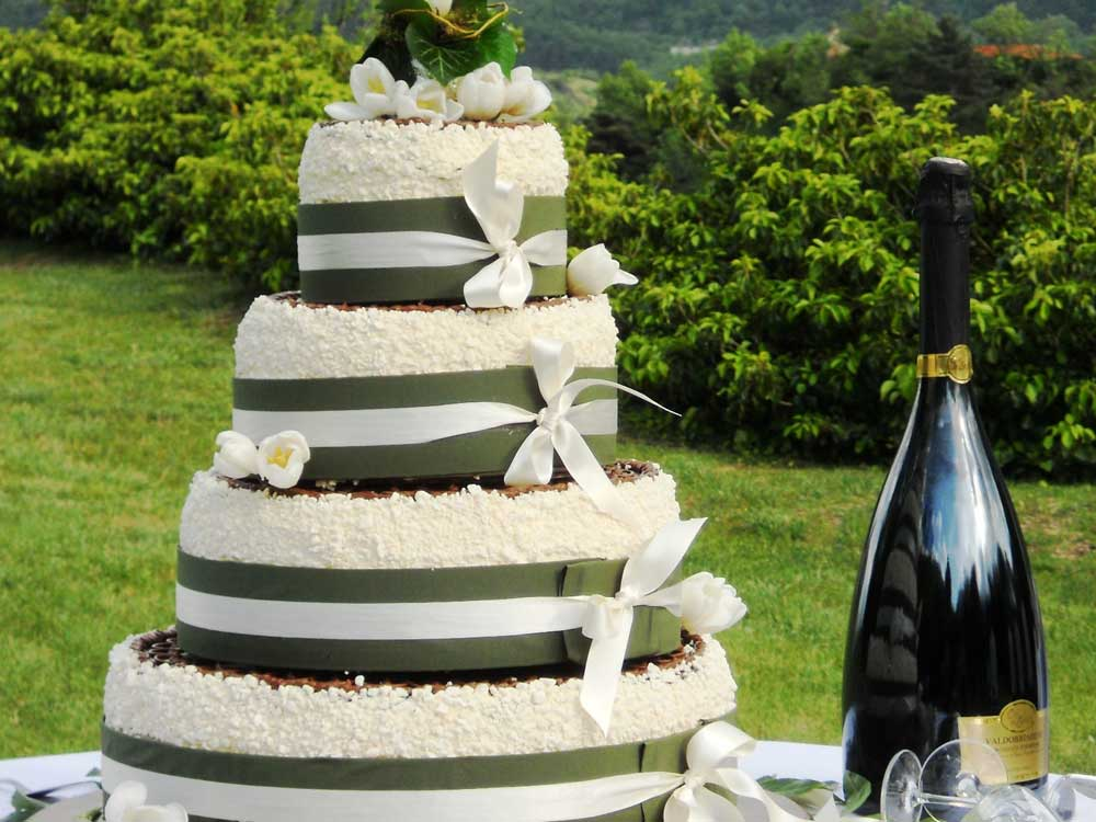 Torta matrimonio Catering BON TON e Pasticceria Pietrini