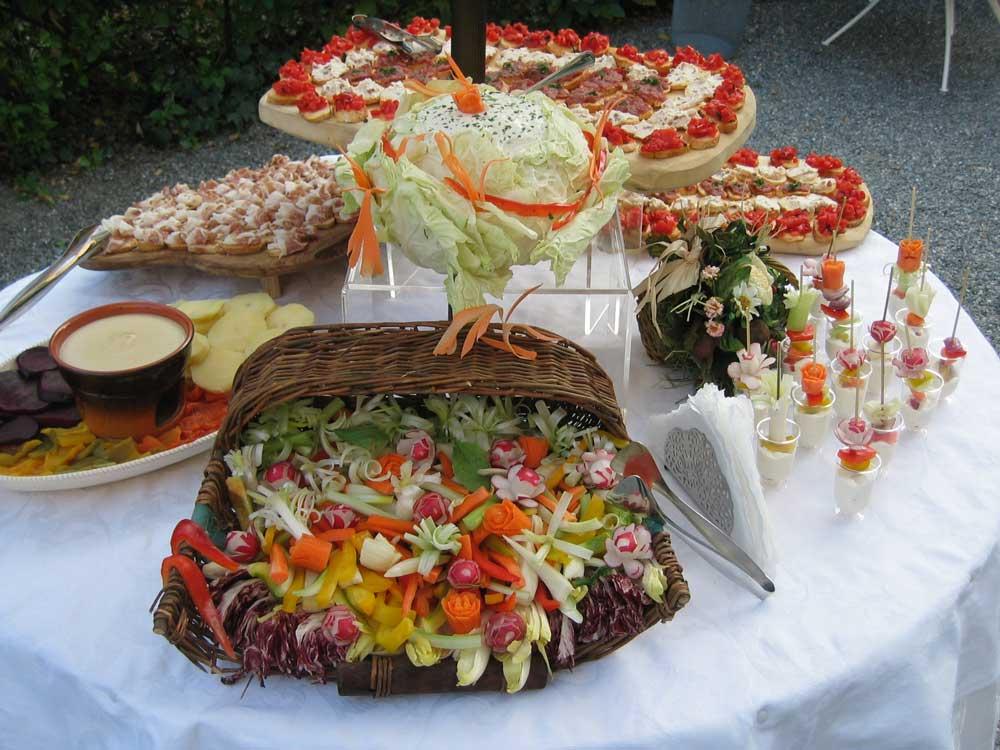Buffet estivo artistico-Catering Bon Ton di Pietrini