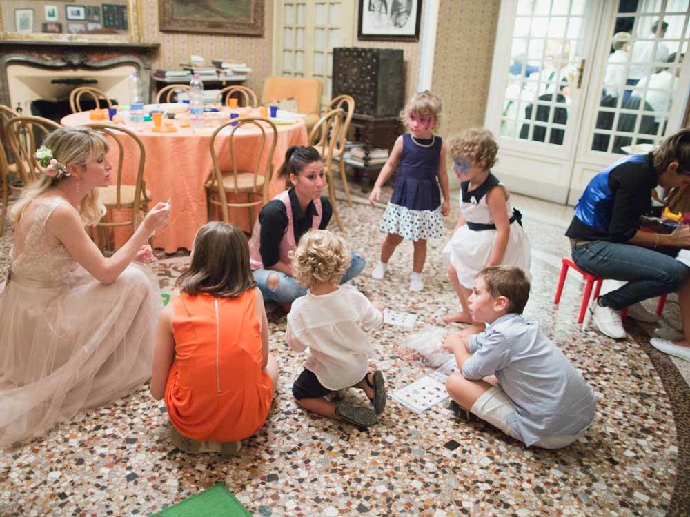 Intrattenimento animazione bimbi per bon ton di Pietrini - catering ricevimento matrimoni
