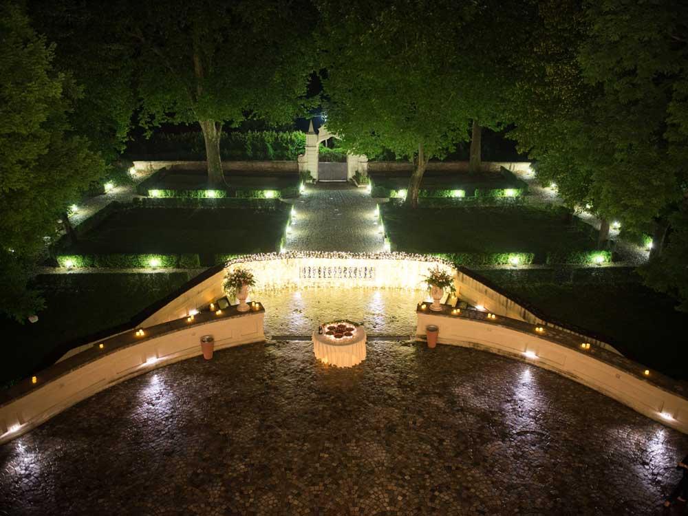 notturno alla villa - Bon Ton di Pietrini presso Villa Bria - catering per matrimoni e catering per eventi aziendali Bon Ton di Pietrini, Torino