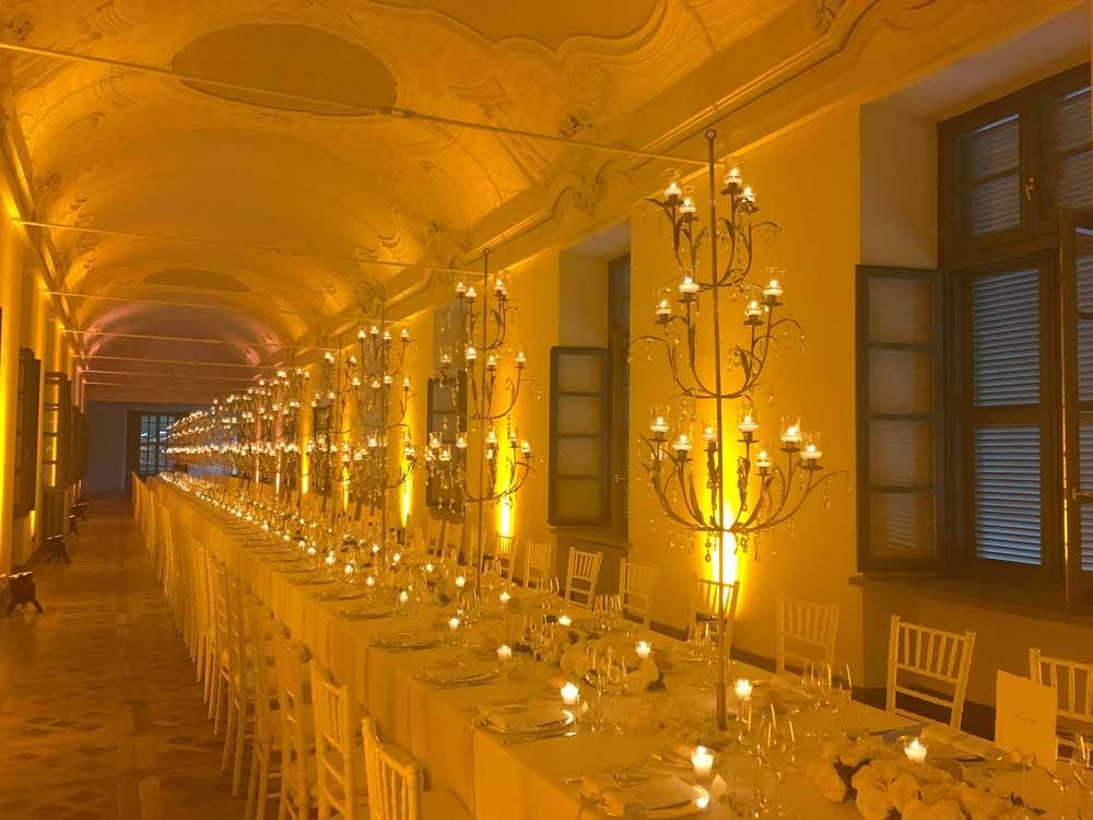 Galleria, tavolo imperiale - Bon Ton di Pietrini presso Villa Bria - catering per matrimoni e catering per eventi aziendali Bon Ton di Pietrini, Torino