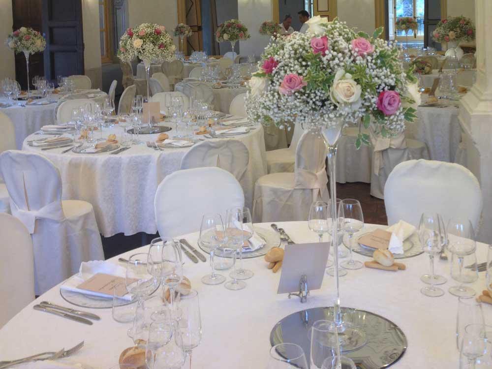 dettaglio centratavolo, sala - Bon Ton di Pietrini presso Villa Bria - catering per matrimoni e catering per eventi aziendali Bon Ton di Pietrini, Torino