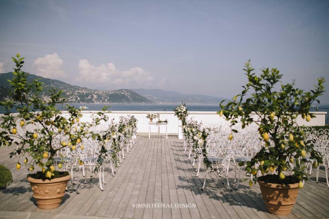 allestimenti fiori Simmi - cerimonia a Portofino