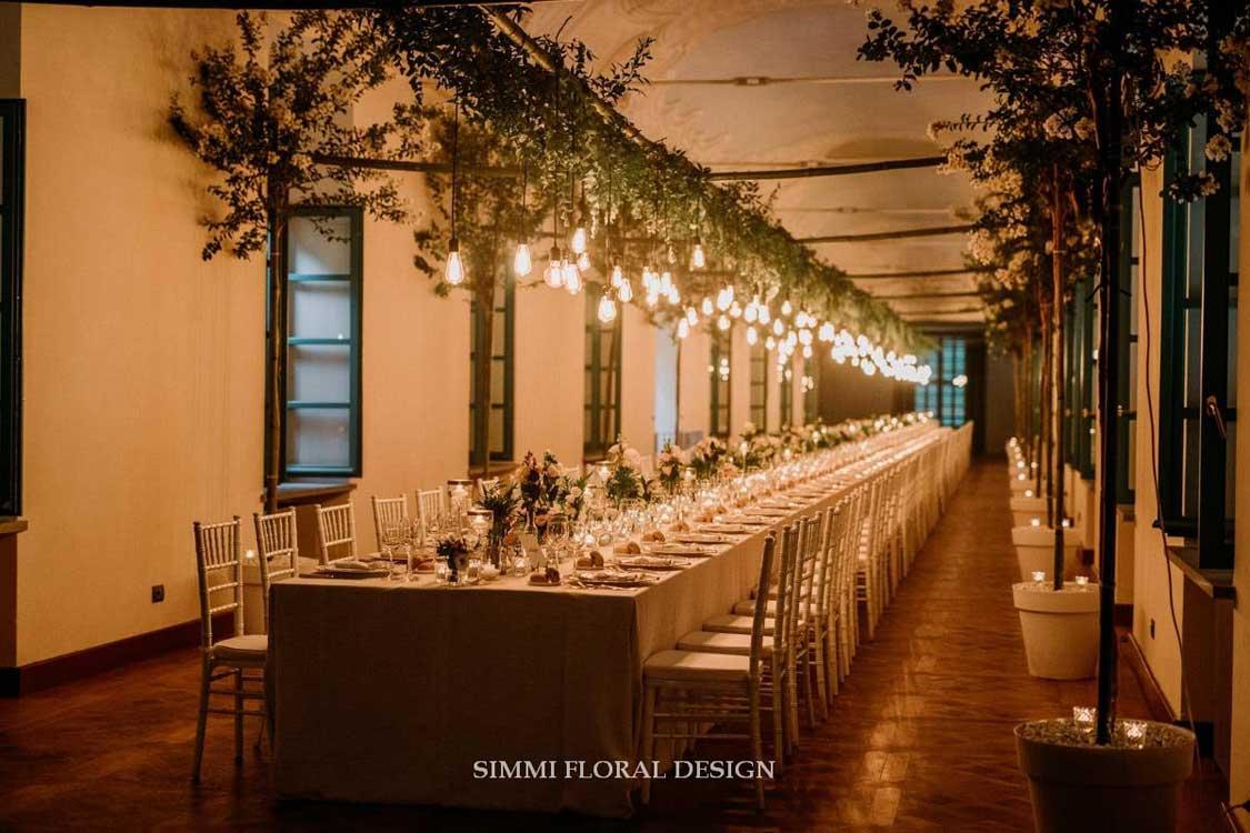 allestimenti fiori Simmi - villa Bria tavolo imperiale