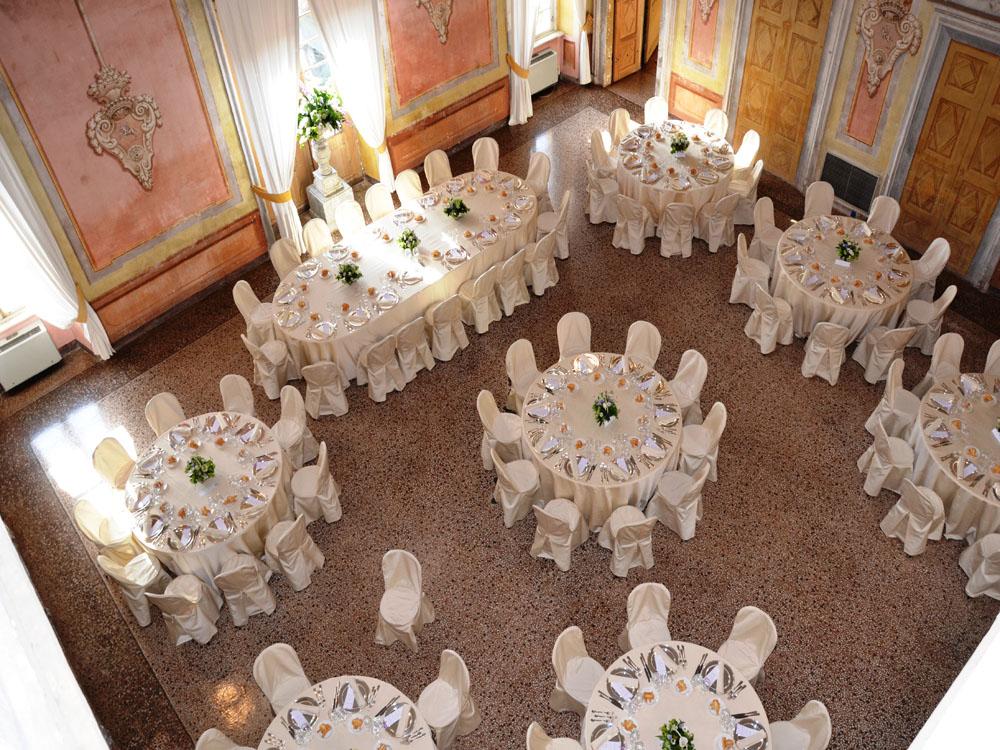 Allestimento Salone_Castello di San Giorgio Canavese-Catering BON TON-Pietrini