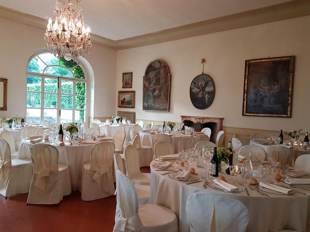 Allestimento salone Villa Vigna Chinet_Catering Bon Ton di Pietrini