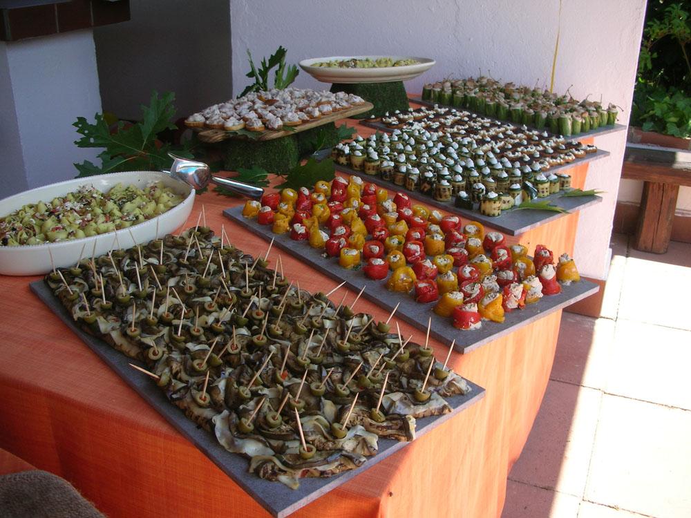 Buffet preparazioni salate Catering Bon Ton di Pietrini