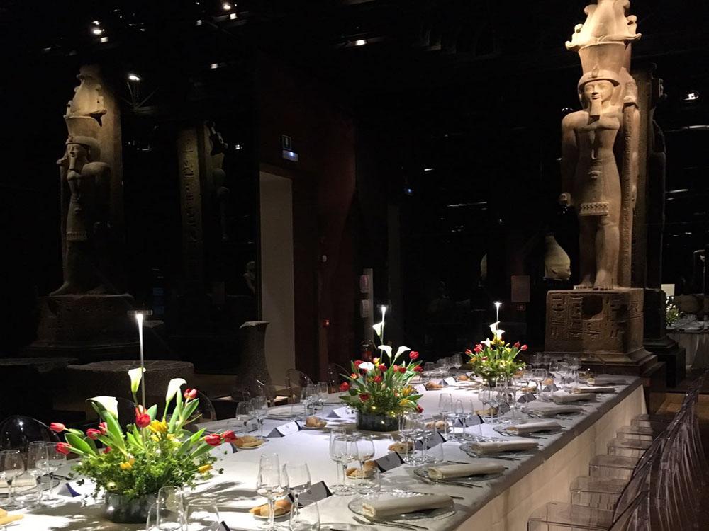 Cena di gala FIGC Roma_Bon Ton di Pietrini_Galleria dei Re_Museo Egizio