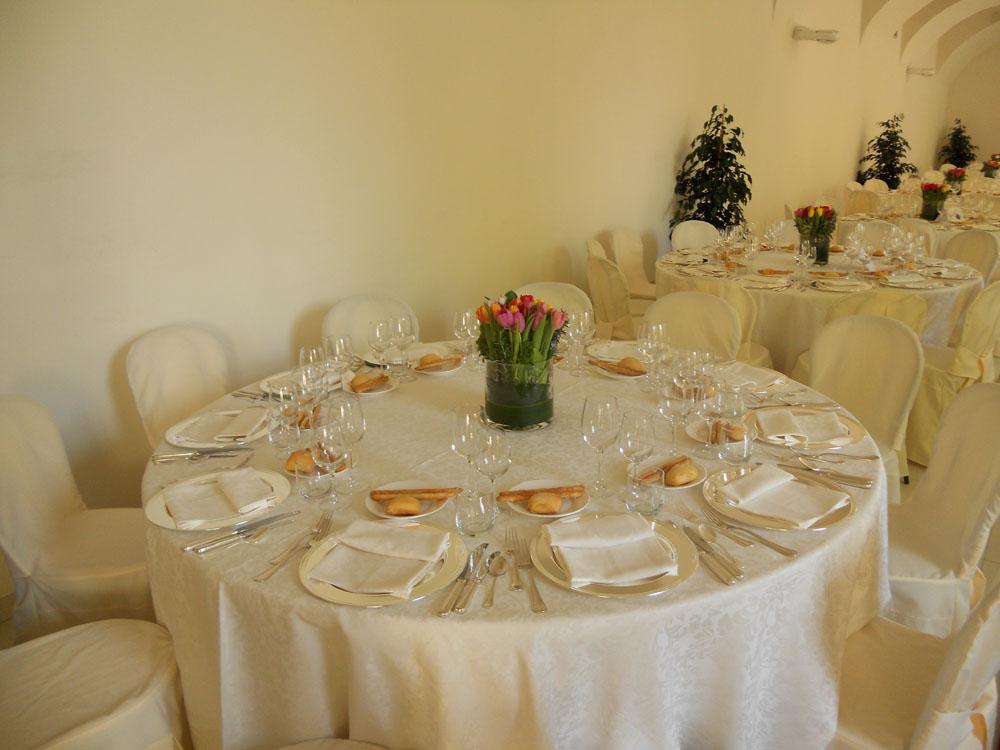 Allestimento matrimonio Castello Cavour Catering Bon Ton Pietrini