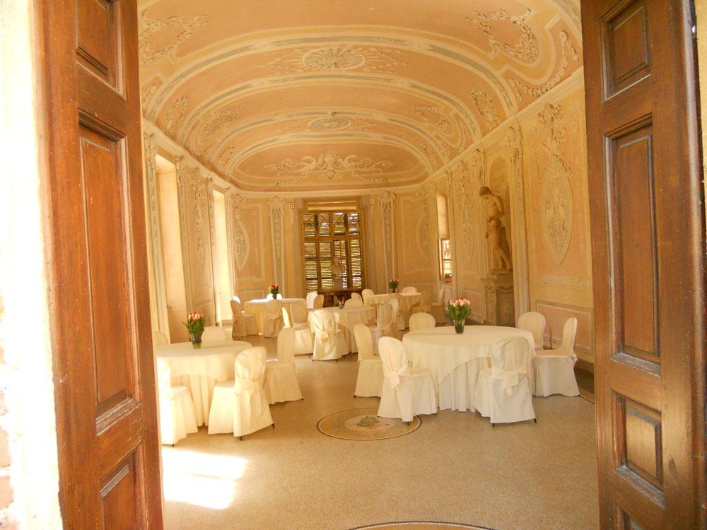 Allestimento matrimonio Salone Castello Cavour Catering Bon Ton Pietrini