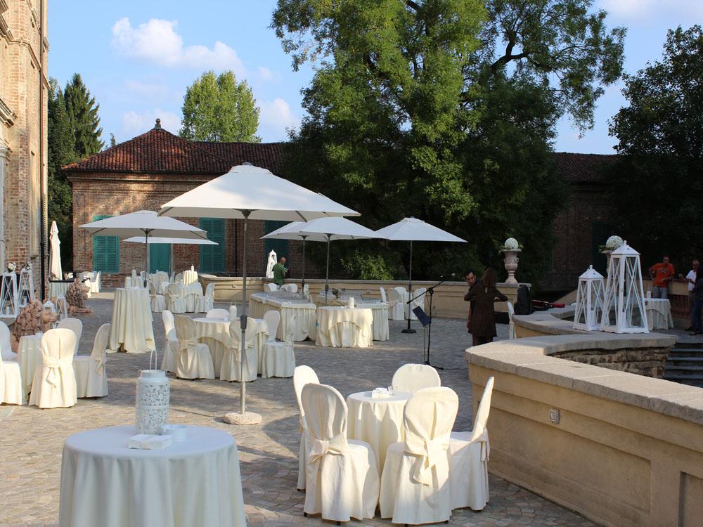 Villa Bria-Allestimento buffet in terrazza-BON TON Pietrini