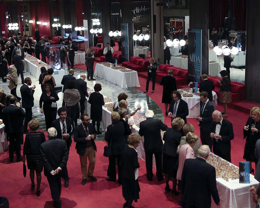 Buffet Foyer Toro Catering Bon Ton Pietrini per inaugurazione Mito settembre Musica