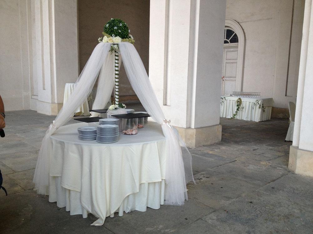 Castello di Agliè-allestimento buffet-catering bon ton pietrini