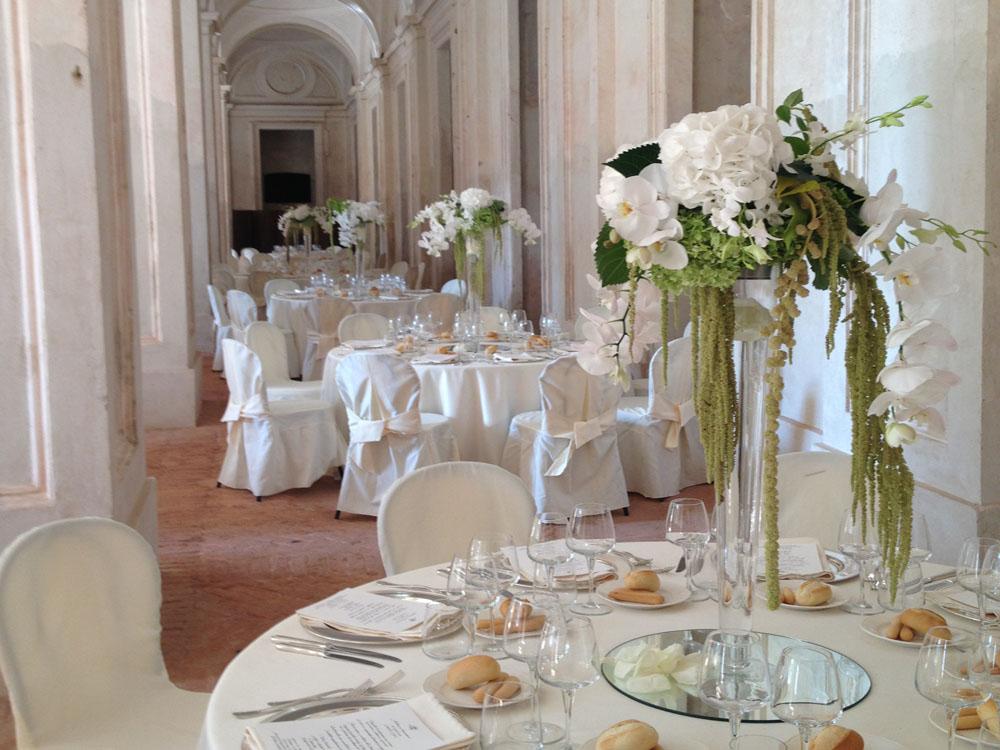 Allestimento catering Torino - Castello di Aglié