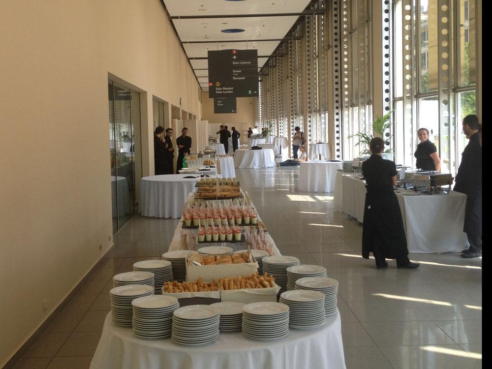 Bon Ton di Pietrini presso Lingotto Fiere Torino, buffet  - servizio di catering Bon Ton di Pietrini per CM Editoria