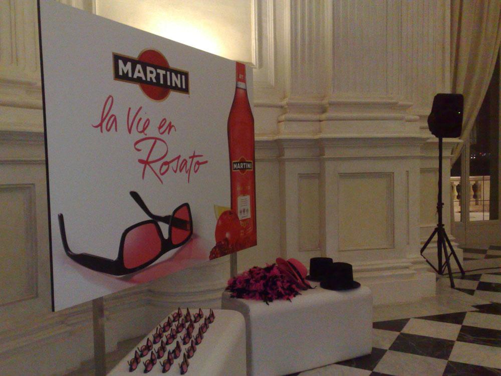 servizio di catering per eventi Bon Ton di Pietrini, presso location per eventi Reggia di Venaria - Cocktail buffet per Martini Rosa a cura di Bon Ton di Pietrini