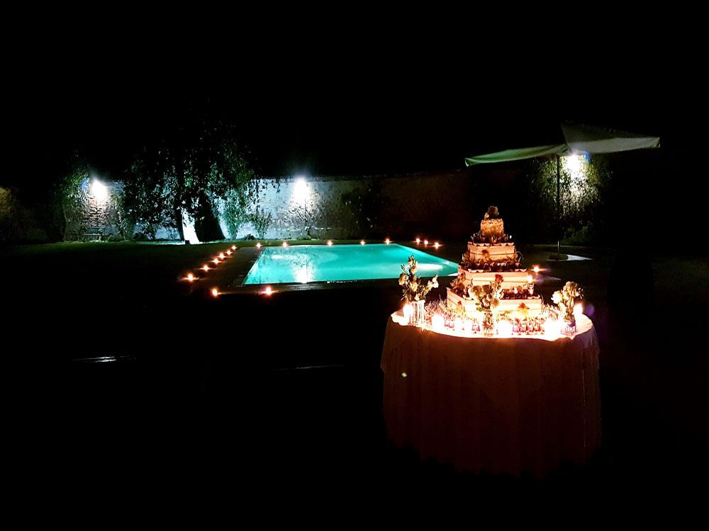 Tenuta Berroni notturno - location matrimoni - catering bon ton pietrini