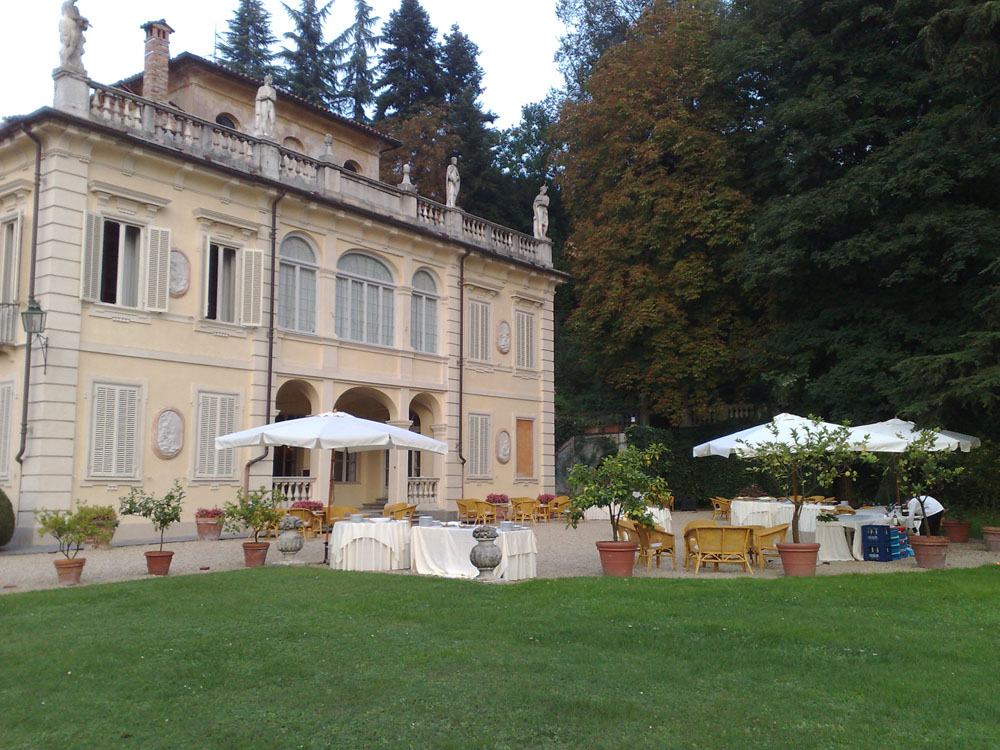 Villa d'Agliè - giardino - servizio catering per matrimoni Bon Ton Pietrini