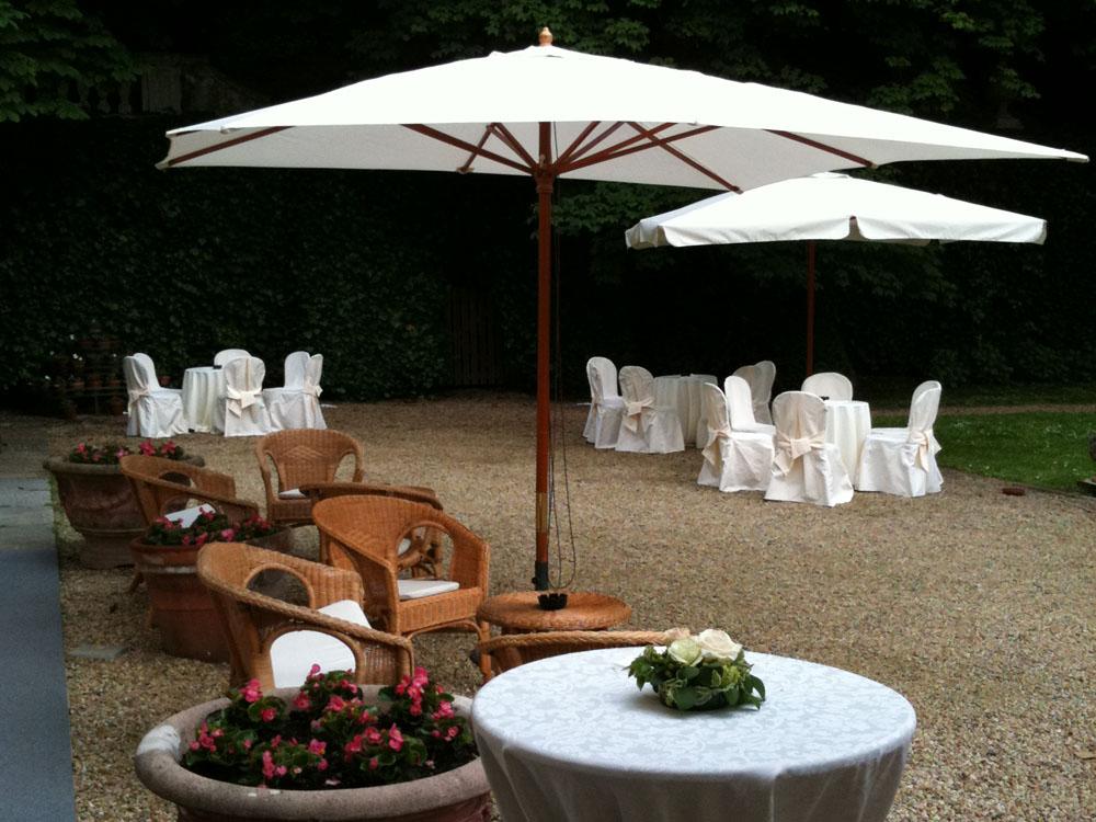 Villa d'Agliè - dettaglio allestimento da esterno - catering per eventi Torino, Bon Ton diPietrini