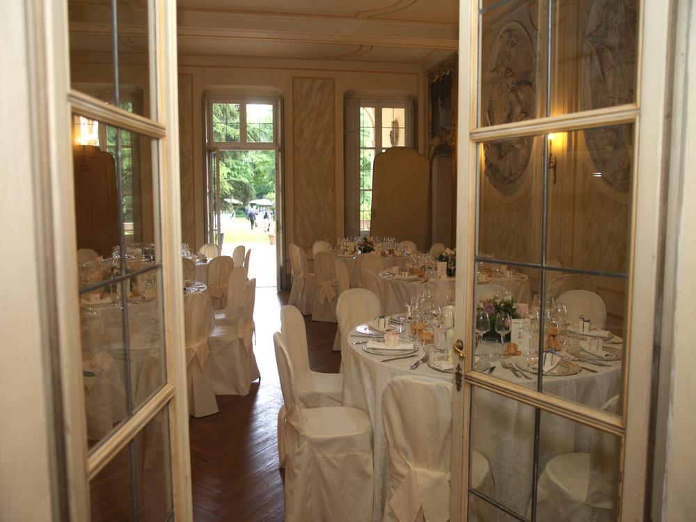 Villa d'Agliè - allestimento salone - Bon Ton Pietrini