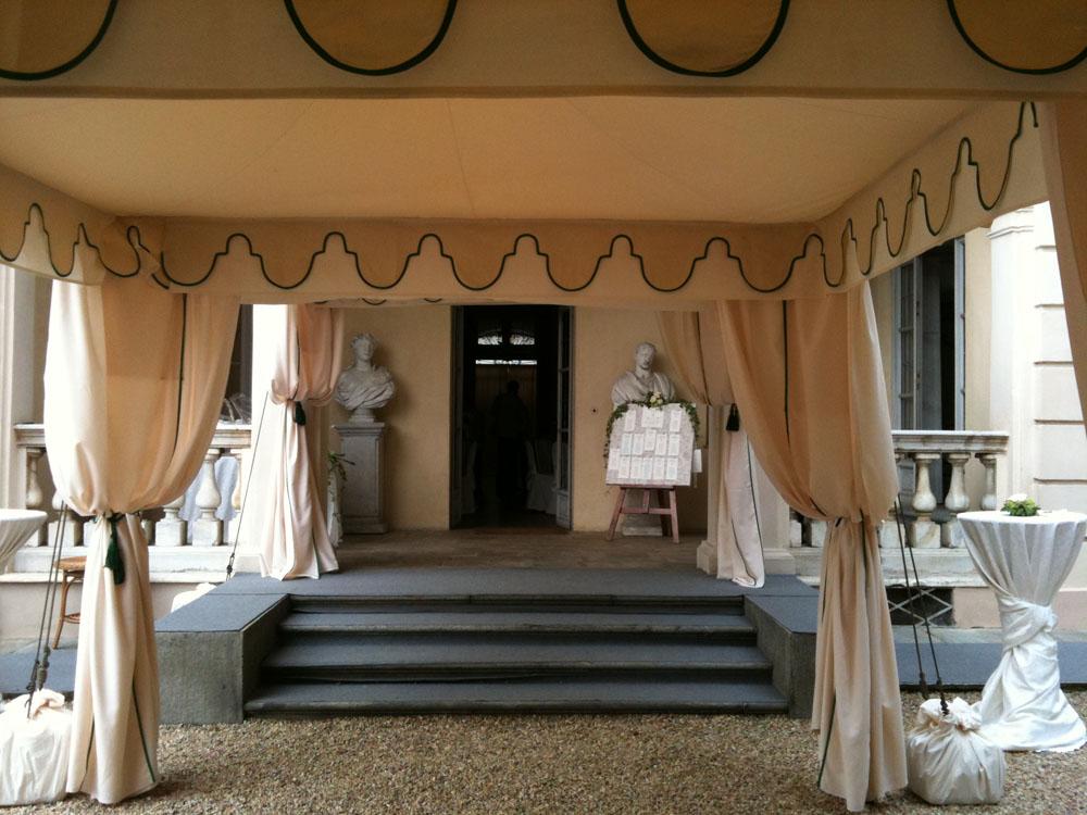 Villa d'Agliè - tensostruttura - catering allestimenti per cerimonie, Bon Ton Pietrini