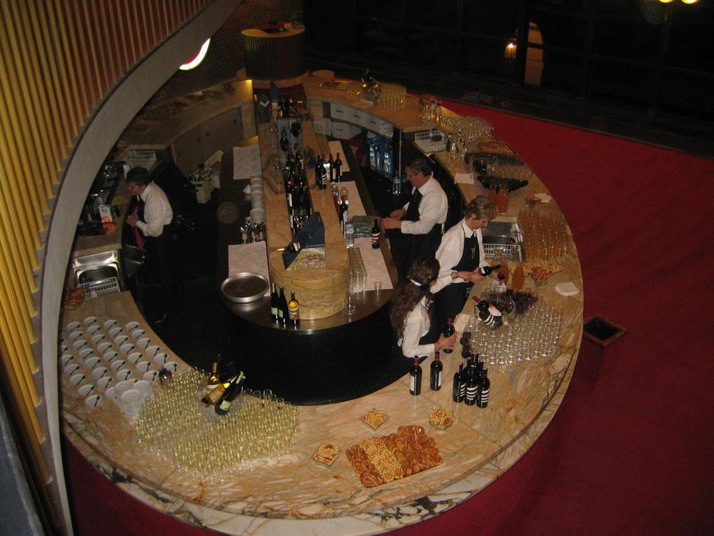 Buvette Teatro Regio - catering Bon Ton Pietrini per evento inaugurale MiTo Settembre Musica