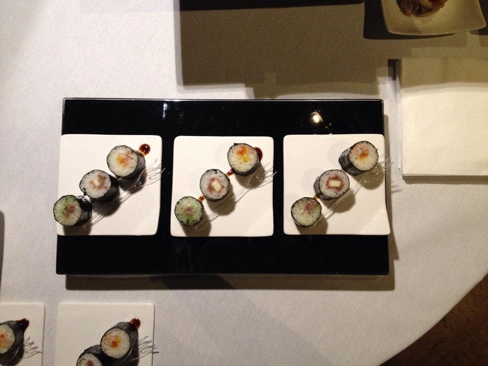 Sushi piemontese - catering Bon Ton Pietrini - dettaglio finger food