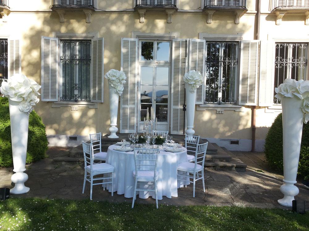 Villa d'Agliè - allestimento floreale e mise en place esterno - Bon Ton di Pietrini