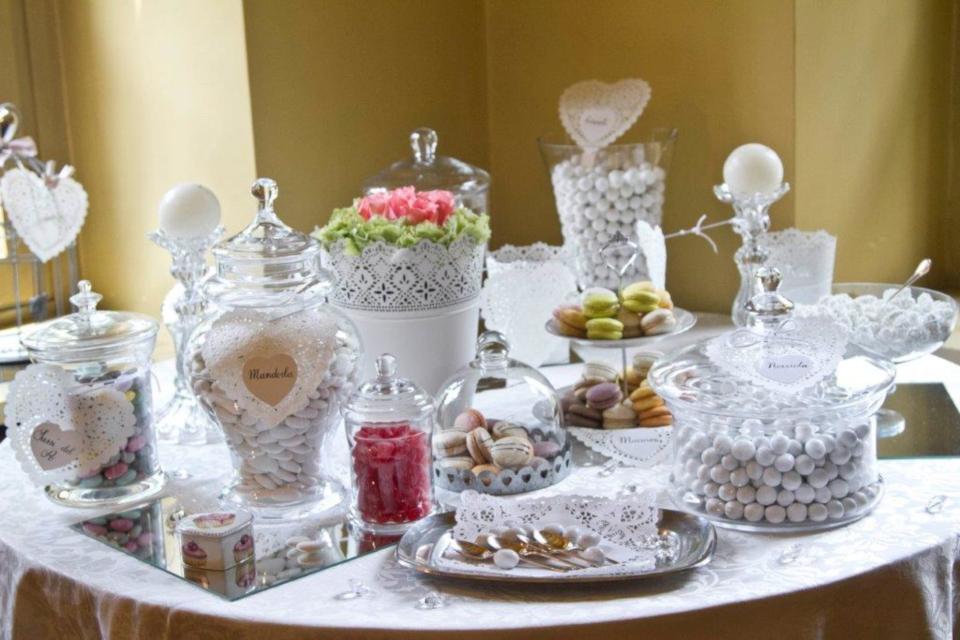 Allestimenti catering: White table
