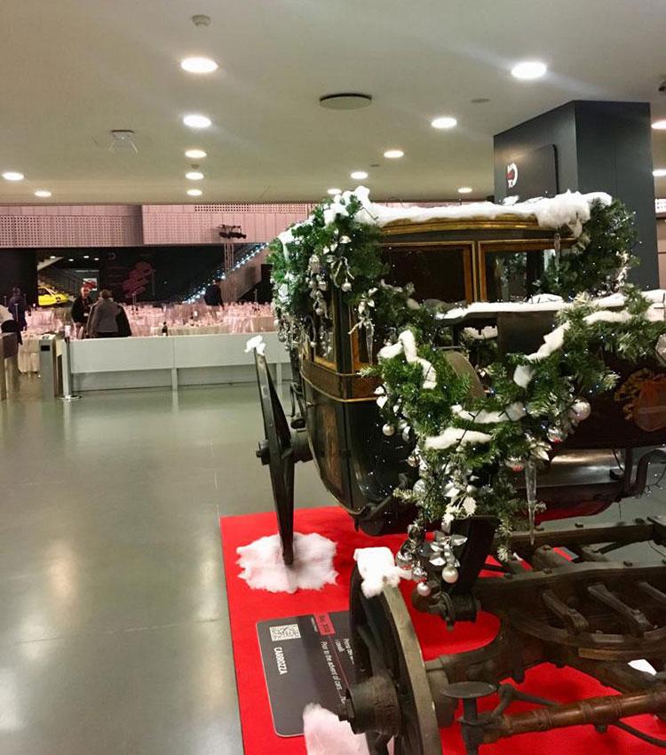 allestimento museo automobile torino per cena aziendale