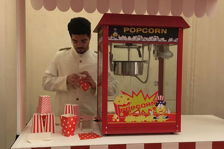 Catering compleanni: macchina popcorn