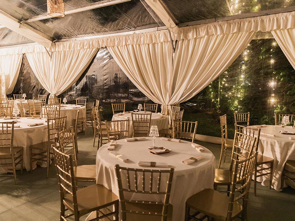 allestimento sala per evento villa franchetti - BON TON Pietrini