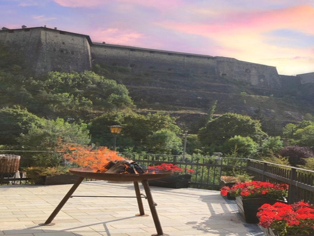 terrazza panoramica - osteria degli archibugi - exilles