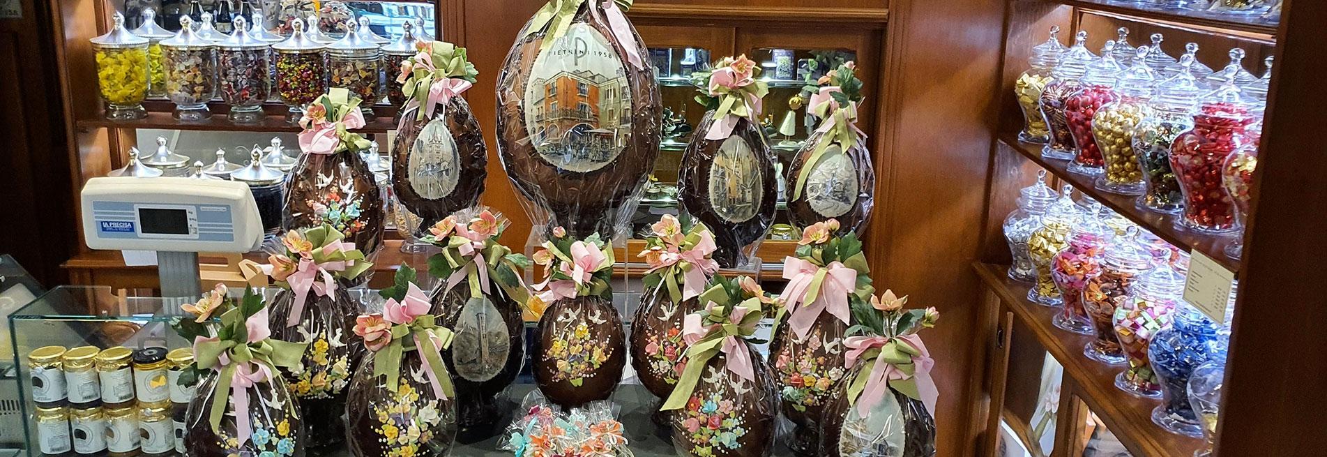 Pasqua 2020: consegna a domicilio uova di pasqua artigianali - Pasticceria Pietrini